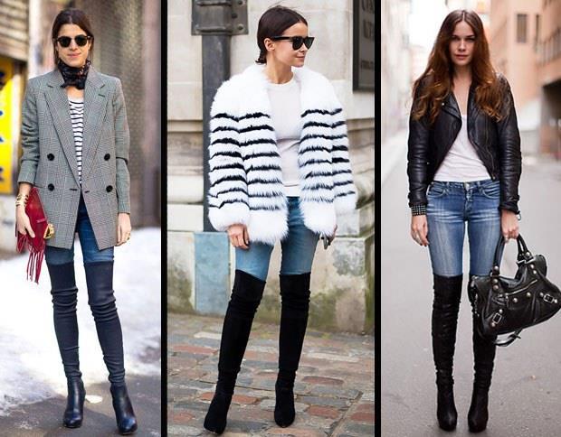 Siyah çizmenizi  skinny pantolon ile kombinledikten sonra şık bir triko giyerseniz olduğunuzdan daha ince ve uzun görünebilirsiniz.