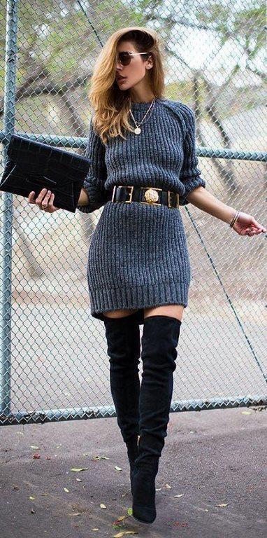Belinize oturan, bacaklarınızı güzel gösteren şık kıyafetler ile diz üstü çizmeleriniz oldukça uyum sağlayacaktır. Bu kombini hem özel günlerde hem de iş hayatında tercih edebilirsiniz.