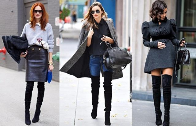 Mini elbiseler dizüstü çizmelerle muhteşem bir uyum yakalıyor.