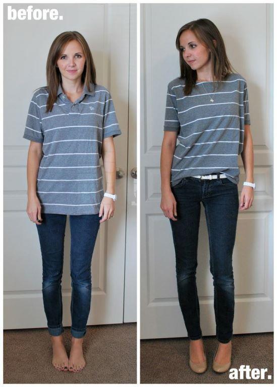 Tsihirtleri Pantolonunuza Sokun  Kısa boya sahip kadınlarda amaç her zaman uzun gözükmek olmaktadır. Bu sebeple pantolon tercihlerinde de onları daha uzun gösterecek yüksek bel pantolonları giymek boy konusundaki kusuru örtmeye yardımcı olur.