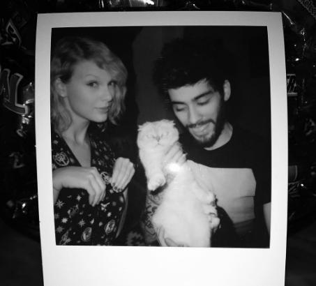 Zayn Malik ve Taylor Swift'in bu pozu da yılın en sevimli ünlü paylaşımlarından biri olarak hafızalarda yer etti.