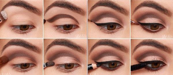 """Örneğin toprak tonları, bakır ve altın tonları kahverengi gözler için ideal tonlardır. Hafif hafif ışıltılı, sedefli ve parıltılı farlar göz rengindeki sıcaklığı ortaya çıkartır.  <a href= http://mahmure.hurriyet.com.tr/foto/guzellik/kuru-ciltler-nasil-makyaj-yapmali_41378 style=""""color:red; font:bold 11pt arial; text-decoration:none;""""  target=""""_blank""""> Kuru Ciltler Nasıl Makyaj Yapmalı?"""