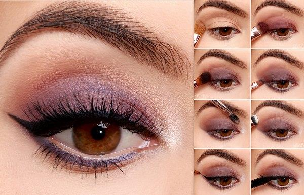 Kahverengi gözleri ön plana çıkartmak için sıcak tonlara yönelebilirsiniz.