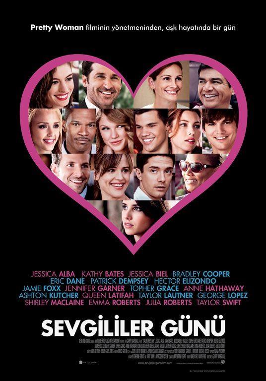 Sevgililer Günü - Valentine's Day    Bir grup Los Angeles'linin birbirine geçmiş hikâyelerini konu alıyor. Kahramanlarımız sevgililer gününün romantizmi içinde, kendi hayatlarında, o güne kadar fark etmedikleri önceliklere yer vermeleri gerektiğini görüyorlar.