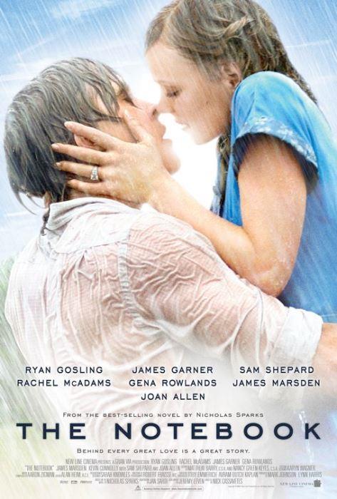 The Notebook (Not Defteri) (2004):  Sararmış bir not defterinden anlatılan ve yıllar önceden kopup gelen bir aşk hikayesi. 40'lı yıllarda ABD, Kuzey Karolayna'daki sahil kasabası Seabrook'a genç bir kız gelir. Ailesiyle geçireceği sakin bir yazı hayal eden Allie bir karnavalda tanıştığı Noah'la yakınlaşır. Noah kızı gördüğü anda hayatını birleştirmesi gereken insan olduğunu anlar. Genç kız zengin bir aileden geldiği ve delikanlı da değirmende çalışan bir işçi olduğu halde geleceği hiç düşünmeden rüya gibi bir yaz geçirirler ve iyice aşık olurlar. II. Dünya Savaşı'nın kızıştığı bir dönemde hayat, aşıkları ayırıverir. Sevdiği kızı aklından hiç çıkarmamış olan Noah savaştan döner. Oysa Allie gönüllü olarak çalıştığı bir askeri hastanede tanıştığı Lon ile evlenmek üzeredir.
