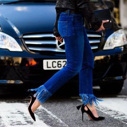 Yeni moda püsküllü jean trendini sizde kendiniz yapabilir, değişen moda trendlerine ayak uydurabilirsiniz.