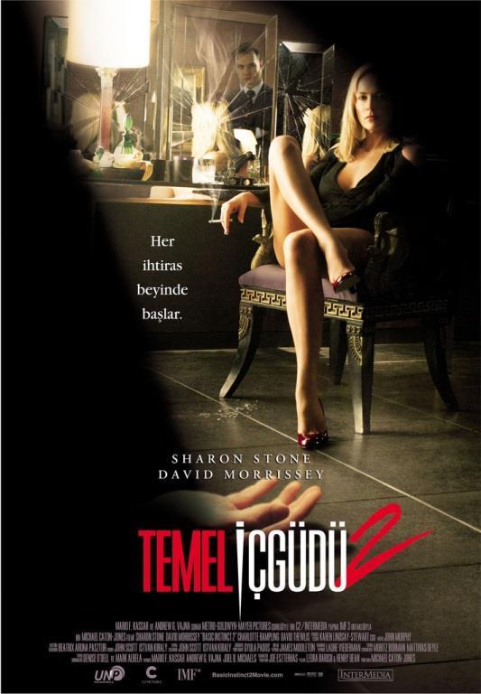 """Temel İçgüdü 2 - (Basic Instinct 2 : Risk Addiction)  Cinayet romanları yazarı Catherine Tramell, Londra'da yaşamaktadır. Futbolcu erkek arkadaşı bir araba kazasından ötürü suda boğularak öldüğünde, polis soruşturmalarının merkezi haline gelir. Tramell arabayı suya doğru sürmeden önce erkek arkadaşı halihazırda yüksek dozda uyuşturucudan ölmüştür zaten. Polis psikoanalisti olan Dr. Michael Glass, Tramell'i incelemek üzere çağırılır. Ancak doktor, bu manipulatif kadın tarafından baştan çıkartılır.   Diğer yanda arkadaşı olan Roy Washburn, Tramell'in suçlu olduğundan emindir. Tramell, doktordan kendisine """"risk bağımlılığı"""" konusunda terapide bulunmasını ister. Her terapiden sonra Glass, giderek bu kadının eğilimlerinden yana daha da şüphe ile dolar. Cinayetlerin sayısı arttıkça ve bu cinayet kurbanlarına Glass'ın eski eşi de dahil olunca, doktor, Tramell'in suçlu olduğunu ispat etmeyi bir saplantı haline getirir ki kanıtlar bunun tam aksini göstermektedir."""