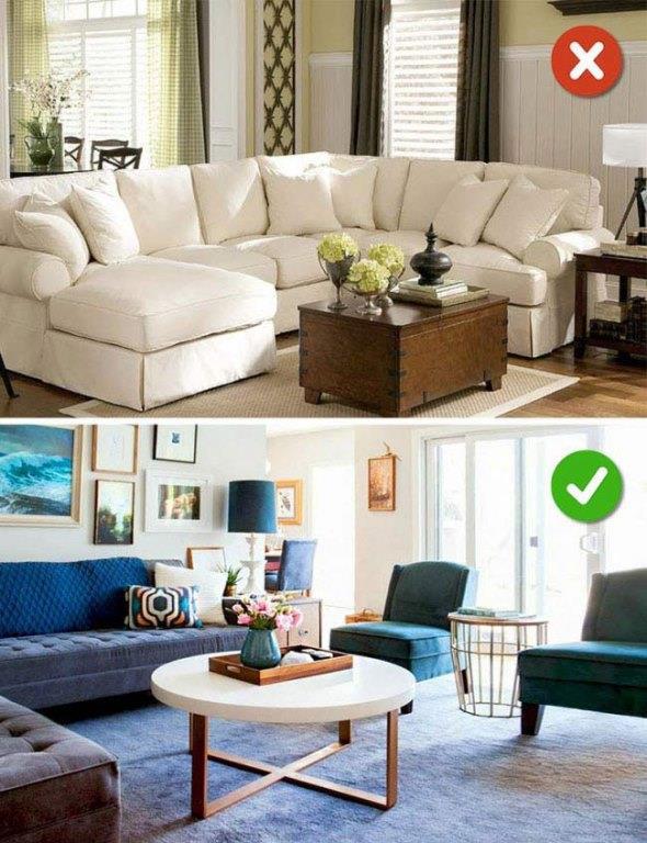 Büyük Mobilya Almak  Aldığınız koltuk takımları evinizi daha küçük yapabilir bu yüzden eğer koltuğa ihtiyacınız varsa küçük boyutta koltuk takımının yanında tekli koltuklar tercih etmelisiniz.
