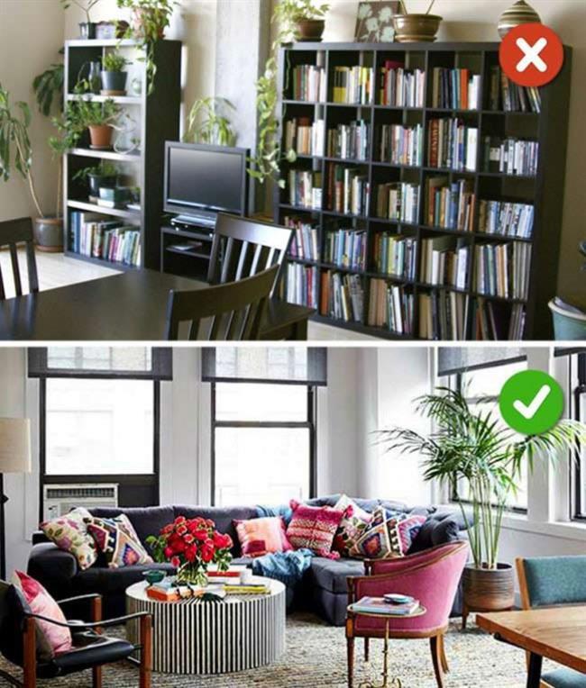 """Küçük Saksılar Kullanmak  Odanın içinde çiçek yetiştirmek evinizi çok daha renkli ve canlı gösterir. Ancak çiçekleri büyük saksıda yetiştirmek evinizi daha büyük göstermenize yardımcı olur.  <a href=  http://mahmure.hurriyet.com.tr/foto/yasam/evin-havasini-temizleyen-13-cicek_41633  style=""""color:red; font:bold 11pt arial; text-decoration:none;""""  target=""""_blank"""">  Evin Havasını Temizleyen 13 Çiçek İçin Tıklayınız!"""