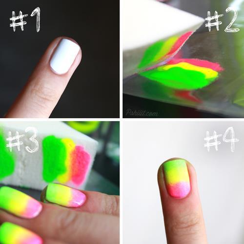 Normal Bir Rengi Neona Dönüştürün  Eğer bu efekti yakalamak istiyorsanız asıl kullanmak istediğiniz ojeyi sürmeden önce beyaz oje veya beyaz oje primer sürün.