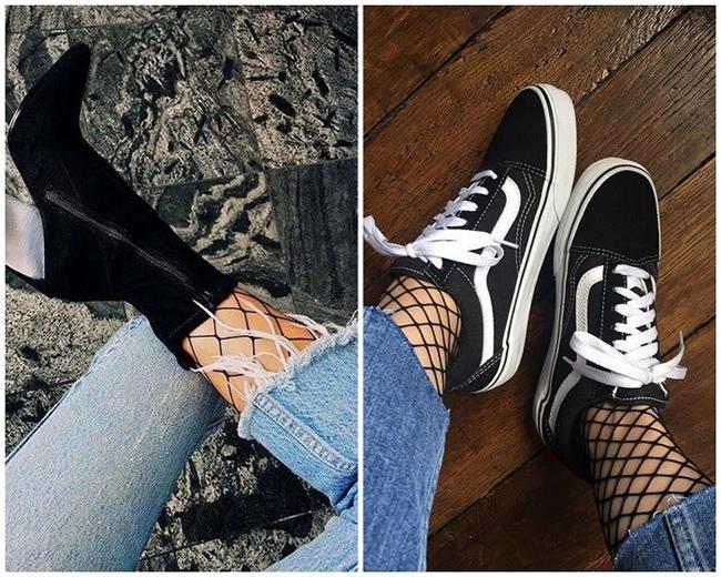 Fileli çorap, seksi görünümünün yanında cool ve farklı bir tarz yaratmanıza da yardımcı oluyor.