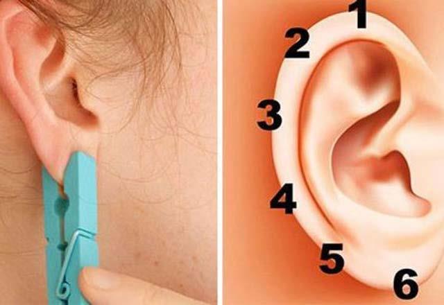 Bazen acı en iyi ağrı kesicidir. Kulaktaki ağrı noktalarına mandalla baskı uygularsanız inanılmaz bir sonuç elde edeceksiniz!