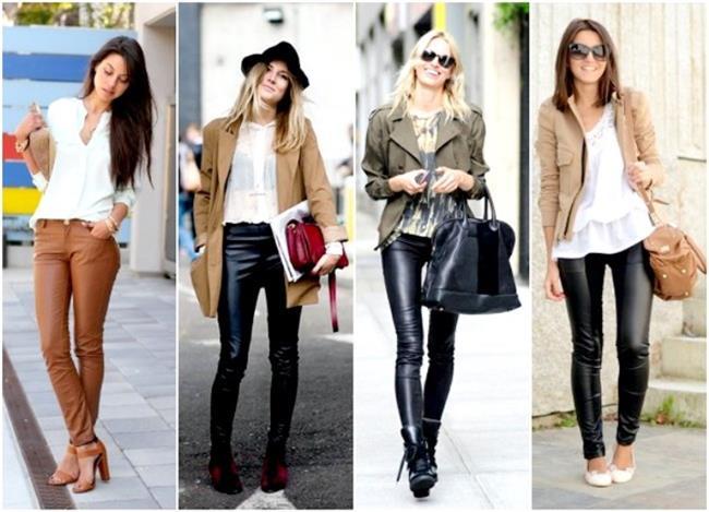 Deri Pantolonlar   Deri pantolonlar son bir kaç sezondur oldukça moda. Kış sezonu için en büyük avantajı fazla renk seçeneği ve deri ceketlerle birlikte kullanılıyor olmasıdır. Bu sezonun trend renkleri arasında bordo, siyah, , kahverengi deri pantolon modelleri oldukça fazla. Şık bluzlarla, clutch çantalar ve topuklu ayakkabılar ile özel davetlere katılabilirsiniz. Günlük yaşamınızda yarım botlar ile süper skinny jeanleri kombinleyebilirsiniz.   Yılların Vazgeçilmezi: Deri Trendi