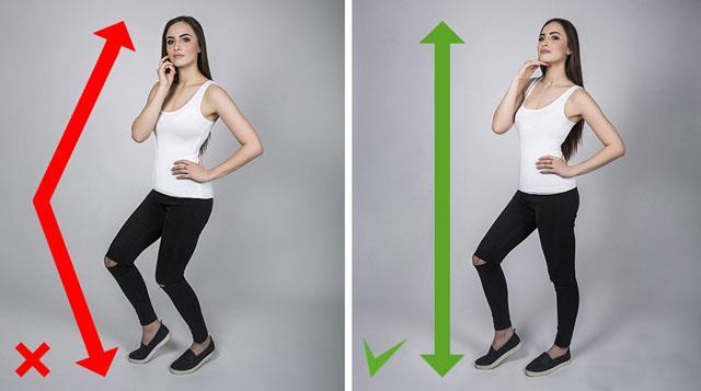 Parmak Uçlarında Yükselme  Eğer boydan bir çekim yerine selfie yapacaksanız uzun görünmek için yapmanız gereken en önemli şey parmak uçlarında yükselmektir. Bu sizin diğer objelerden daha uzun gösterir.