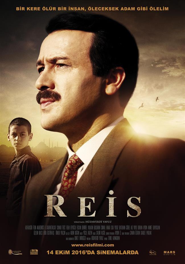 Reis  Adnan Menderes'in idam haberiyle başlayan film Cumhurbaşkanı Recep Tayyip Erdoğan'ın çocukluk dönemi ile belediye başkanlığına uzanan hayat hikayesi beyazperdeye yansıtıyor. Film Erdoğan'ın gençliğini de ele alarak onun gözünden bir dönem hikayesi anlatma hedefinde. Yönetmenliğini Hüdaverdi Yavuz'un üstlendiği yapımda Recep Tayyip Erdoğan'ı Reha Beyoğlu canlandırırken, eşi Emine Erdoğan'ı ise Özlem Balcı oynuyor.   Vizyon Tarihi: 3 Mart 2017