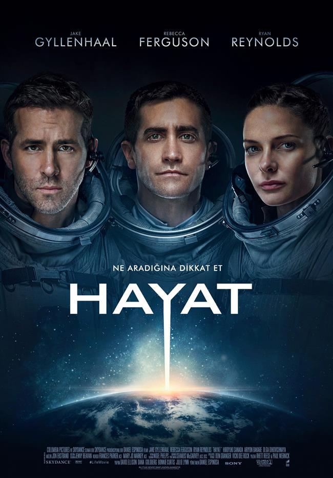 Hayat (Life )  Uluslararası Uzay İstasyonu'nun 6 üyesi, Pilgrim Uzay Aracı aracılığıyla Mars'tan getirilen bir örneği incelerken büyük bir keşfe imza atar: Bu örnek biyolojik özellikler göstermektedir, yani Mars'ta hayat olduğunun kuşku götürmez bir kanıtıdır. Ancak bir süre sonra mürettebatı ölüm kalım mücadelesi verecekleri bir süreç beklemektedir, nitekim Mars'tan gelen 'örnek' zannettiklerinden çok daha zeki ve kuvvetlidir.  Vizyon Tarihi: 24 Mart 2017