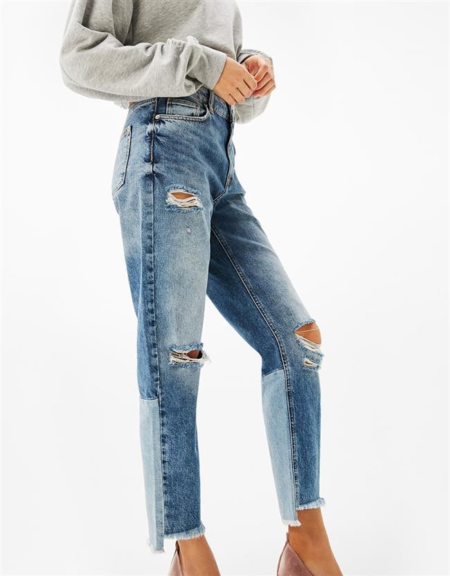 Yıllardır trendliğinden ödün vermeyen yırtık jean modellerine bir de paçası püsküllü jeanler eklendi! İşte birbirinden iddalı, paçası püsküllü jean modelleri!  Bershka