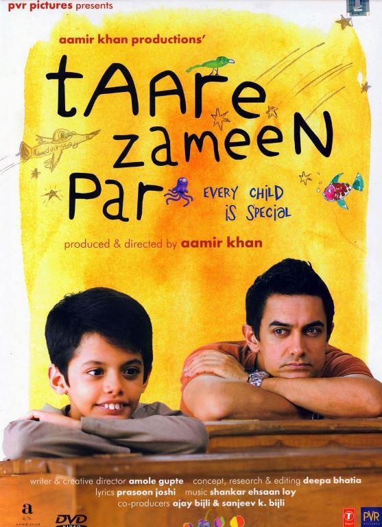 HER ÇOCUK ÖZELDİR (Taare Zameen Par):    Okul çağında gerizekalı muamelesi gören bir çocuk yeni resim öğretmeni ile başarının kapısını aralayıp herkesi kendine hayran bırakır. Aamir khan ın hem yönetmenlik yapıp hemde rol aldığı bir filmdir.