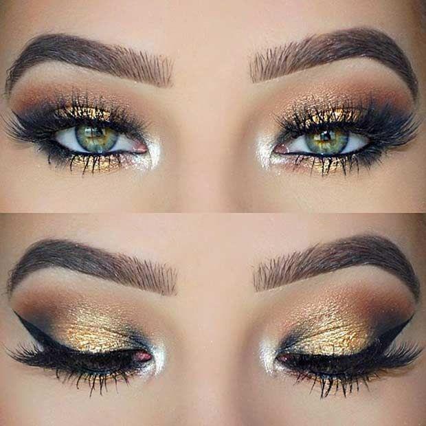 Glitter makyajın en önemli aşaması göz makyajı. Islak görünümlü likit farlar ve metalik tonlardaki farlar glitter makyajın olmazsa olmazı. Bu renkleri gözünüzün üstüne dilediğiniz gibi uygulayabilirsiniz.