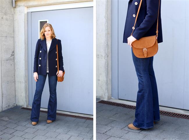 Vücudu saran bol paça kot pantolonlar  Kalçaya oturan, dizlerin altında genişleyen kot pantolonlar her kadının dolabında mutlaka olması gereken bir parça.