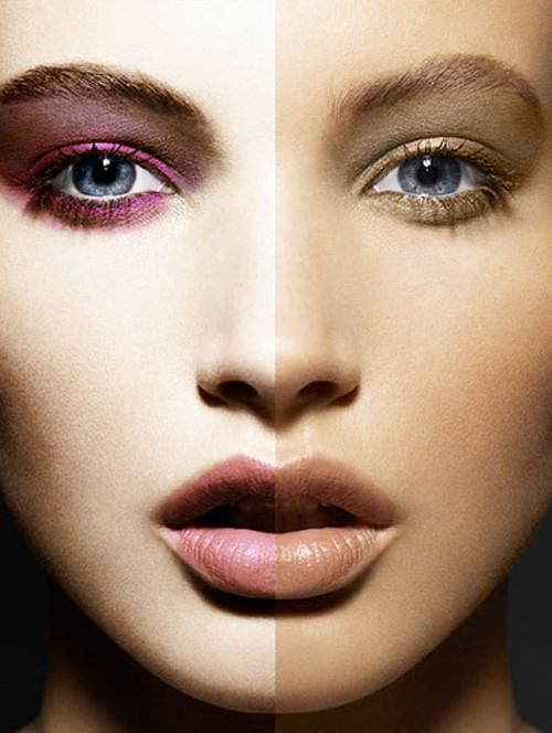 Göz, yanak ve dudakların aynı rengin farklı tonlarının kullanılmasıyla oluşan monokrom (tek renkli) makyaj geri döndü.