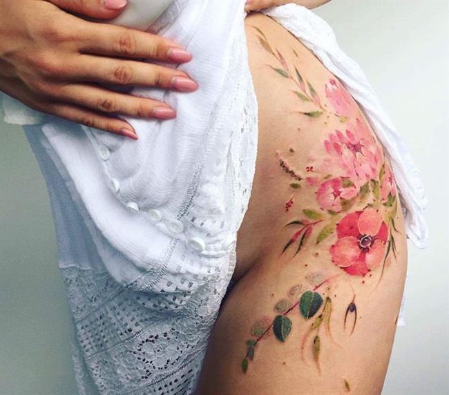 Birbirinden Güzel Çiçek Dövmeleri  Önerileri - 11
