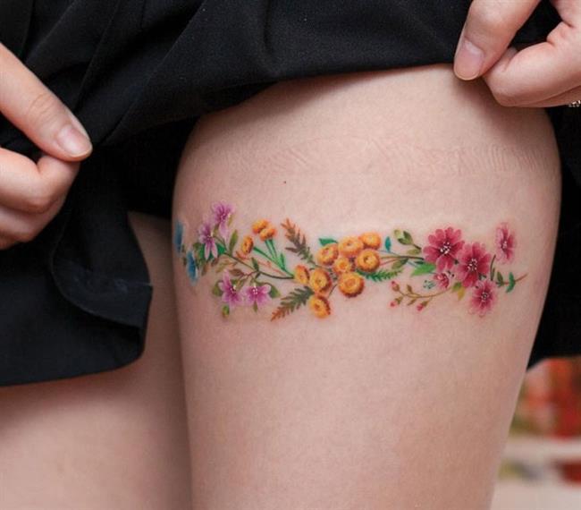 Birbirinden Güzel Çiçek Dövmeleri  Önerileri - 18