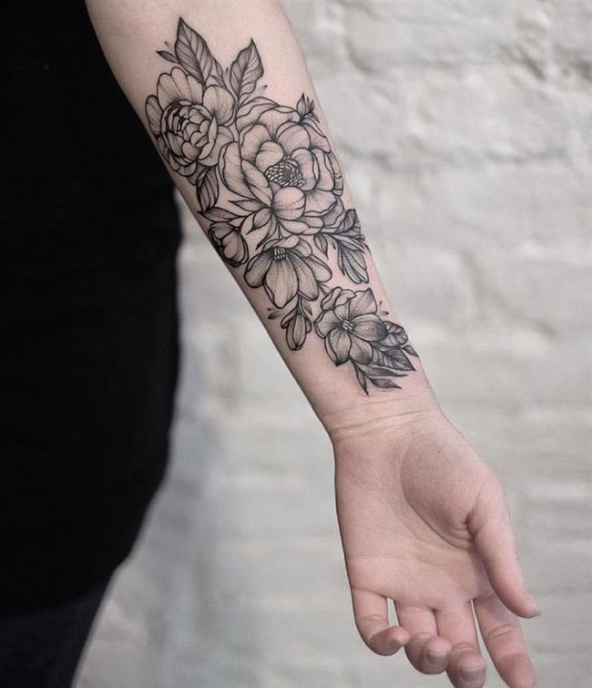 Birbirinden Güzel Çiçek Dövmeleri  Önerileri - 48