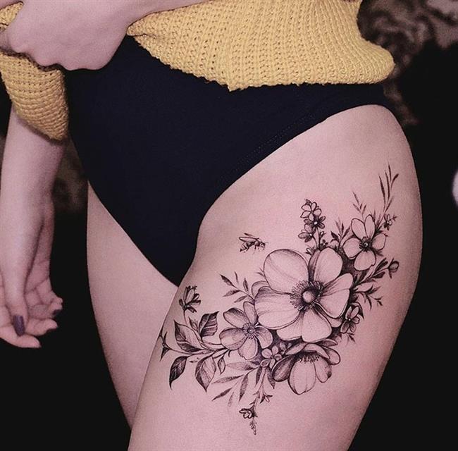 Birbirinden Güzel Çiçek Dövmeleri  Önerileri - 57