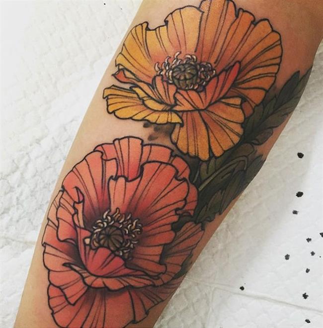 Birbirinden Güzel Çiçek Dövmeleri  Önerileri - 77