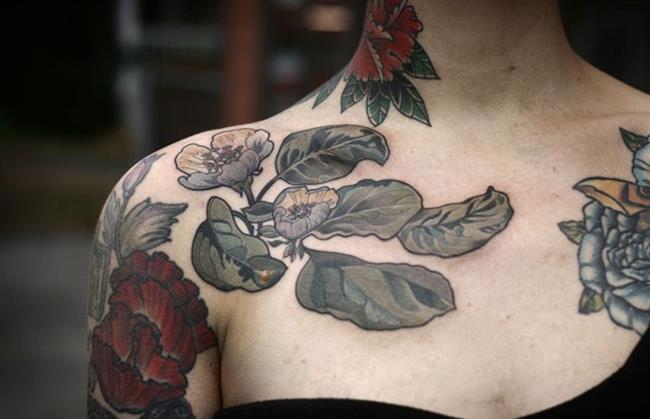 Birbirinden Güzel Çiçek Dövmeleri  Önerileri - 87