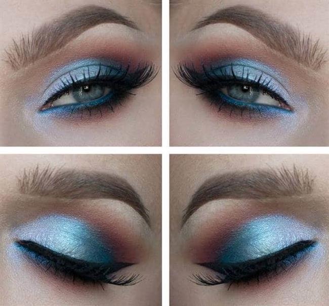 Bu sezonun bir diğer şaşırtıcı rengi olan parlak mavi ve tonları son yıllarda eskide kaldığını düşündüğümüz halde yeniden en moda makyaj hareketlerinden.