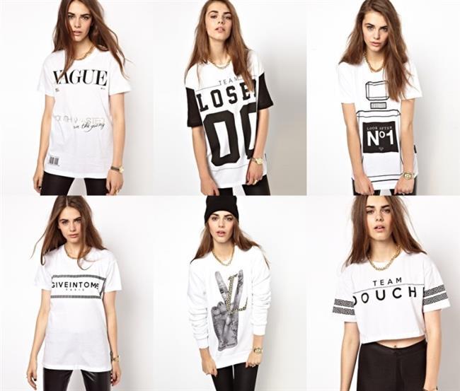 Desen desen sloganlı tişörtler basit görünümünün yanında sizi oldukça şık yapmayı başarır.