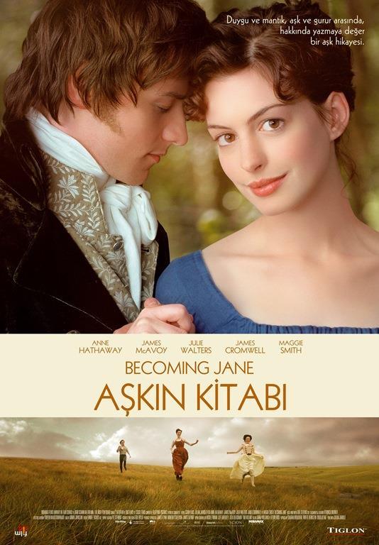 AŞKIN KİTABI (BECOMING JANE)   Jane Austen'in, gençliğinin ilk baharının hikayesi... Zengin bir erkek ile bir evlilik yapmayı kariyeri için hayati bir mesele olarak gören Austen, fakir bir ailede yetişmiş olmasına rağmen yazarlık konusunda farkedilmesini sağlayacak denli etkili yeteneklere sahiptir. Fakat bu yeteneklerin bir kadın olarak toplumda hiçbir değeri olmadığı düşüncesi dayatılmaktadır. Herşeye rağmen, kendini gösterebileceği tek yolun zengin Wisley ile evlenmesi olduğu düşüncesine karşı çıkmak ister. Ailesinin tüm baskılarına direnen Jane, yetenekli genç avukat Tom Lefroy ile tanışacak ve bu kendine güvenli genç adamla birbirlerine olan aşkları, sahip oldukları herşeyi bir kenara iterek yeni bir hayata başlamaları için büyük bir cesaret verecektir.