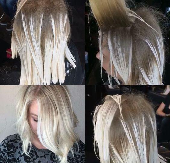 Birçok röfle setinin içerisinden röfle bonesi çıkacaktır. Eğer saçlarınız kısaysa en ideali bu boneyi kullanarak röfle işlemini uygulamanızdır. Ancak uzun saçlara sahipseniz folyo yöntemini kullanmanız daha uygun olacaktır. Eğer bone yöntemini kullanacaksanız öncelikle saçlarınızı arkaya doğru taramanız, sonra ise boneyi kafanıza geçirip önden bağlamanız gerekmektedir. Sonrasında ise setin içerisinden çıkan tığ ile ya da bazı ürünlerde fırçanın ucundaki kanca ile saç tutamlarını eşit aralıklarla çıkarmanız ve karışımı bu tutamlara uygulamanız gerekmektedir. istenilen tona göre 20 ile 50 dakika arasında bekletilebilmekte ve ardından bone saçtayken saç durulanmaktadır. Folyo tekniğinde ise öncelikle folyolar hazırlanmakta ve istenilen tutamlar folyonun üzerine yayılıp ürün bu tutamlara uygulanmaktadır. 20 dakikadan sonra folyolardan biri açılarak kontrol edilmekte ve istenilen tona ulaşıldığında folyolar çıkarılıp saç durulanmaktadır.