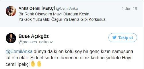 Daha sonra Hadise hayranları Cemil İpekçi'ye atmış oldukları tweetlerle Hadise'nin yanında olduklarını dile getirdi.