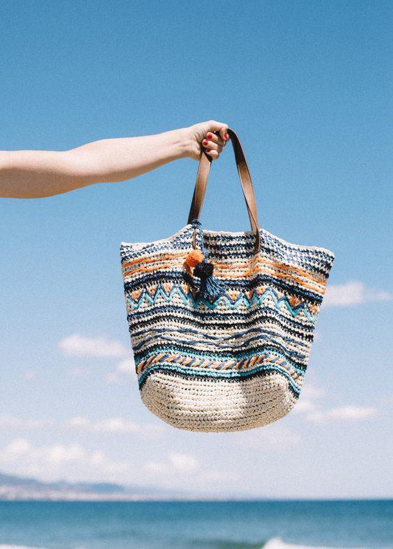 Sezonun trendi haline gelen hasır çantalar plajlardan sokaklara geçiş yapıyor. İşte ilham alabileceğiniz hasır çanta modelleri...  Kaynak Fotoğraflar: Pinterest
