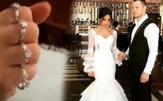 Avatar Atakan'ın eşine düğün hediyesi olarak verdiği muşta şeklinde yüzük...