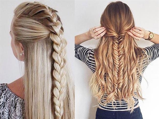 En başta üst tarafınızda ayırdığınız saçları 3 ayrı ancak aynı oranda olacak şekilde ayırın.  Ortada kalan saç tutamını serbest bırakın ve sağ ile soldaki tutamları da ayrı ayrı lastik tokalar ile bağlayın.En altta ayırmış olduğunuz saçlarınızı da iki ayrı ancak yine eşit olacak şekilde parçalara ayırın.  Üstte boşta kala ortadaki saça da bu kısma ekleyin ve örün. Altta kalan saçlar için de sürekli olarak aynı işlemi yapmaya devam edin.Genel olarak yapacağınız işlem saçları iki eşit tutama ayırmak ve üstte kalan boş kısmı bunlara eklemek.Bu hareketi saçlarınızın en ucuna kadar devam ettirin.Ve örgünüz hazır!