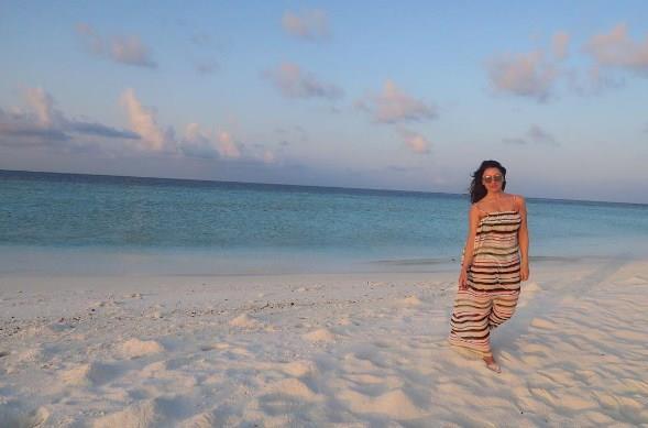 Hadise'nin bir başka yaz fotoğrafı...