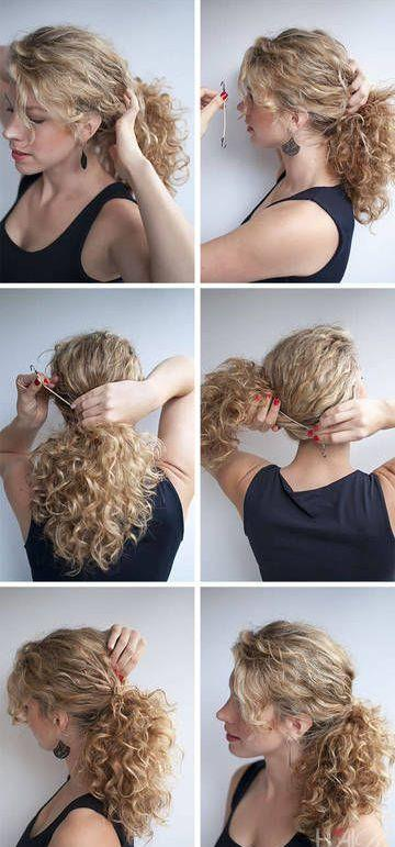 Vaktiniz mi yok, acele etmeyin, telaş yapmayın. Enseden bir tokayla tutturacağınız saçlarınız, hem kıvır kıvır salınacak hem de dikkat çekecektir.