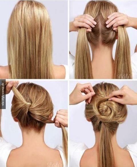Her sene saç trendi değişiyor ama topuz hiç modası geçmeyen bir model olarak yerini koruyor. Düz diye şekil alamayan saçlarınızı farklılaştırabilirsiniz.