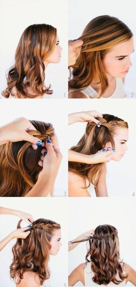 Siz de bu modelle saçlarınızın dalgasına biraz örgü katarak klasik görünümden saçlarınızı kurtarabilirsiniz.