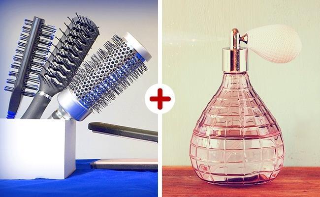 Hoş Kokan Saçlar İçin:   Koşuşturma içinde geçen günler içerisinde terleme, kokma gibi durumlar yaşayan saçlarınızın daha güzel kokması için saç fırçanıza biraz parfüm sıkabilirsiniz.