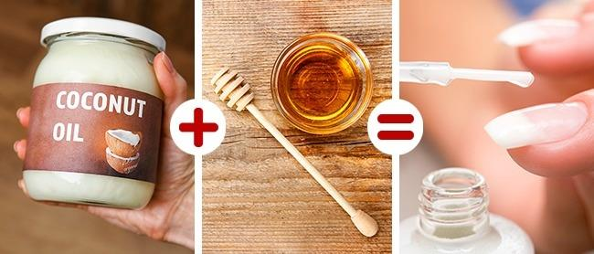 Güçlü Ve Sağlıklı Tırnaklar İçin:   Hindistan cevizi yağı, bal ve lavanta yağı. Bu üçünü karıştırın ve etkileyici tırnaklara sahip olun.
