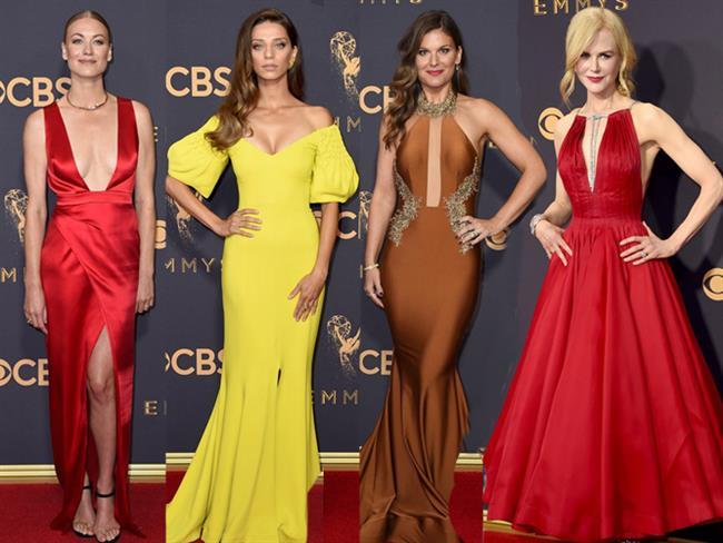 Sabaha karşı Los Angeles'taki Microsoft Tiyatrosu'nda düzenlenen 69. Emmy Ödül Töreni'nde ödül kazananlar kadar, tören öncesi yapılan kırmızı halı geçidindeki şıklık yarışı da geceye damga vurdu. İşte 2017 Emmy Ödül Töreni kırmızı halısının en şıkları...  Kaynak fotoğraflar: Pinterest, İnstagram, Anadolu Ajansı