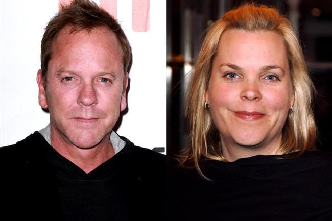 Aktör Kiefer Sutherland'ın da kendisinden sadece birkaç dakika küçük olan  ikiz kız kardeşi Rachel Sutherland.