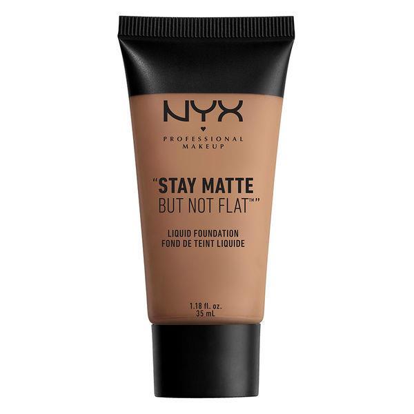 NYX- Stay Matte But Not Fat Liquid Fondöten  Yağlı ciltlere çok uygun olan bu ürün, uzun süre matlık sağlar. Suya dayanıklı bir formüle sahiptir.