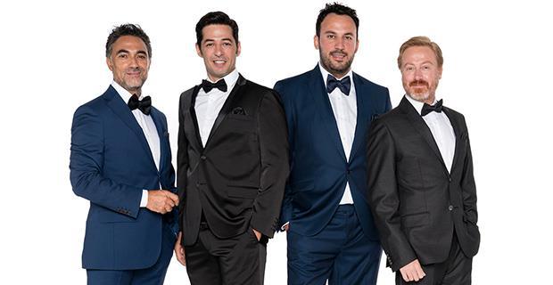 Objektiflere birbirinden havalı ve karizmatik pozlar veren dizinin yakışıklı aktörleri: Selim Bayraktar, Mert Fırat, Ferit Aktuğ ve Yıldıray Şahinler.  Kaynak: NTV