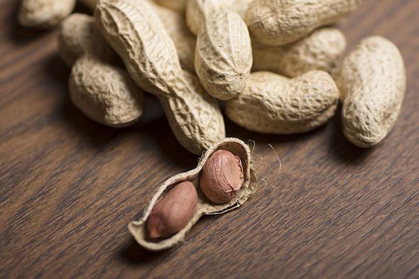 """Yer Fıstığı  Yer fıstığı oldukça lezzetlidir. 100 gramında 26 gram protein bulunur. Protein açısından zengin olmasının yanı sıra diyet lifi ve magnezyum içermektedir. Kalorisi yüksek olduğu için fazla tüketmemeniz gerekmektedir. Kolon, mide kanserini ve safra taşı oluşumunu engeller, sinir hastalıklarına iyi gelir; kan şekerini düzenler.  <a href=  http://mahmure.hurriyet.com.tr/foto/saglik/besinlerdeki-vitamin-kayiplarini-engelleme-yollari_42600/  style=""""color:red; font:bold 11pt arial; text-decoration:none;""""  target=""""_blank"""">  Besinlerdeki Vitamin Kayıplarını Engelleme Yolları"""
